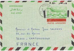 Entier Postal Aérogramme Postes Afghanes - 1972 - Afghanistan