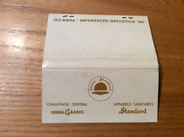 Pochette D'allumettes SEITA «IDEAL - Standard PARIS 8» (société Chauffage Central, Appareils Sanitaires) - Boites D'allumettes