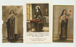 S.Teresa Del Bambin Gesù - Lotto N.3 Santini - Devotion Images