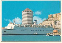 CPA-Vers 1990-83-ITALIE-GENES-FERRY CLODIA-Cie TIRRENIA-Ligne SARDAIGNE-Ferraillé 2013-TBE - Ferries