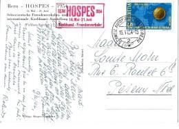 97 - 15 -  Carte Ostale HOSPES Avec Oblit Spéciale 1954 HOSPES - Marcophilie