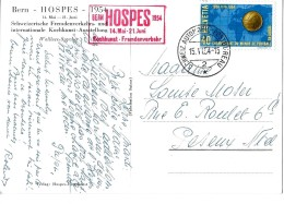 97 - 15 -  Carte Ostale HOSPES Avec Oblit Spéciale 1954 HOSPES - Marcofilie