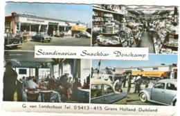 Scandinavian Snackbar Denekamp, Grens Holland-Duitsland OLD CARS VW Etc. Colour Photo 1961 - Niederlande