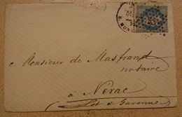Marcophilie- Courrier 1873  Oblitération   (16) - Postmark Collection (Covers)