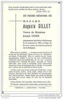 NOLLEVAUX ..-- Mme Augusta GILLET , Veuve De Mr Joseph DIDIER , Née En 1880 , Décédée En 1961 . - Paliseul
