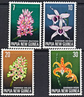 A0944 PAPUA NEW GUINEA 1974, SG 273-6  Flora Conservation, Flowers,  MNH - Papúa Nueva Guinea