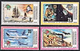 A0606 GRENADA GRENADINES 1974, SG 25-8  Universal Postal Union (UPU)  MNH - Grenada (1974-...)
