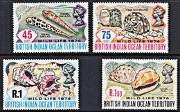 B5011 BRITISH INDIAN OCEAN TERRITORY (BIOT) 1974, SG 58-61 Shells,  MNH - British Indian Ocean Territory (BIOT)
