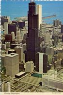 Chicago Skyscrapera - Aerial View Of Two Of The Tallest Buildings In The World - Formato Grande Non Viaggiata – E 3 - Cartoline