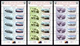 FALKLAND ISLANDS 2002 20th Anniversary Of Liberation: Set Of 3 Sheets UM/MNH - Falkland