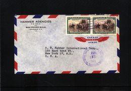 Honduras 1953 Interesting Airmail Letter - Honduras