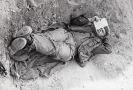 Israel Guerre Du Kippour Cessez Le Feu Sur Le Sinai Soldat Ancienne Photo De Presse 1973 - War, Military
