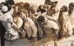 Israel Guerre Du Kippour Cessez Le Feu Prisonniers Egyptiens Ancienne Photo De Presse 1973 - Guerre, Militaire