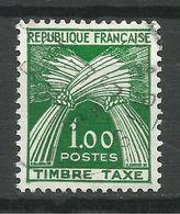 FRANCE , TAXE , Type Gerbes , 1.00 Fr, FRANCE TIMBRE-TAXE , 1960 , N° Y&T 94 - Taxes