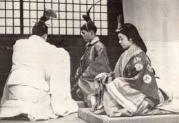 Japon Ceremonie Reconstituee Mariage De Aki Hito Acteurs Ancienne Photo De Presse 1959 - Famous People
