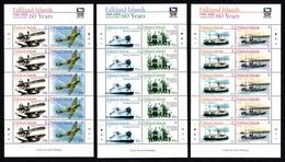 FALKLAND ISLANDS 2005 World War II 60th Anniversary: Set Of 3 Sheets UM/MNH - Falkland