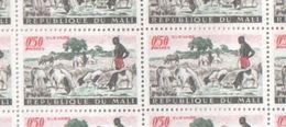 Mali MNH Sheet Of 1961 Livestock Farming Stamps 0.50F - Mali (1959-...)