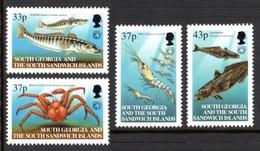 SOUTH GEORGIA 2001 Conservation Of Antarctic Marine Resources: Set Of 4 Stamps UM/MNH - South Georgia