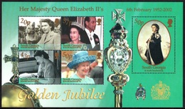 SOUTH GEORGIA 2002 Golden Jubilee: Miniature Sheet UM/MNH - South Georgia