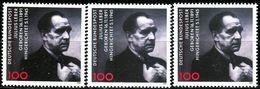 A12-16-7) BRD - 3x Michel 1574 - ** Postfrisch (A) - 100Pf      Julius Leber - BRD