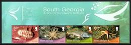SOUTH GEORGIA 2013 Shallow Marine Surveys Group (SMSG): Strip Of 4 Stamps (ex Sheetlet) UM/MNH - South Georgia