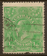 AUSTRALIA 1914 1/2d No Crown KGV SG 20 U #AGD84 - 1913-36 George V: Heads