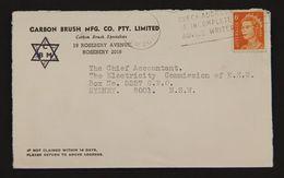 Judaica Anti-semitic Annotation On Australia Advertising Commercial Cover 1970 - Jewish