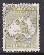 Australia SG 5 1913 Three Pence  Kangaroo,used, - Used Stamps
