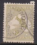 Australia SG 37 1915-20 KangarooThree Pence Olive  ,used, - Used Stamps