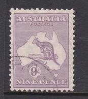 Australia SG 108 1929-30 Kangaroo Nine Pence Violet,used - Used Stamps
