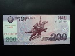 CORÉE DU NORD : 200 WON  97 (2008)   P 62 Avec 100 En Rouge    NEUF - Korea (Nord-)