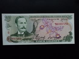 COSTA RICA : 5 COLONES  24.1.1990  P 236e  NEUF - Costa Rica