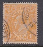 Australia SG 22 1914 King George V 4d Orange,used - Used Stamps