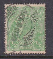Australia SG 51 1918 King George V Half Penny Green,used - Used Stamps