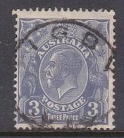 Australia SG 76 1926-30 King George V Three Pence Ultramarine,used . - Used Stamps