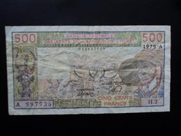 COTE D'IVOIRE : 500 FRANCS  1979  P 105Aa   TTB - Côte D'Ivoire