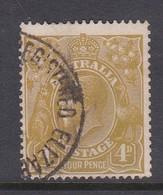 Australia SG 80 1924 King George V Four Pence Olive,used, - Used Stamps