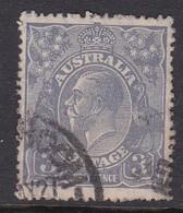 Australia SG 90 1926-30 King George V Three Pence Ultramarine,used . - Used Stamps