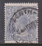 Australia SG 100 1926-30 King George V Three Pence Ultramarine,used . - Used Stamps