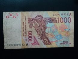 COTE D'IVOIRE : 1000 FRANCS  (20)12  P 115A    TTB - Côte D'Ivoire