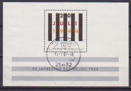 GERMANIA FEDERALE 1994  FOGLIETTO ATTENTATO DEL 20 LUGLIO UNIF. BF 28 USATO VF - Usati