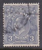 Australia SG 100b 1926-30 King George V Three Pence Ultramarine,used . - Used Stamps