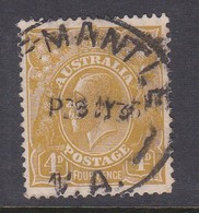 Australia SG 129 1931-36 King George V Four Pence Yellow Olive - Used Stamps