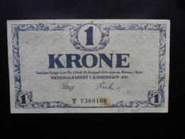 DANEMARK : 1 KRONE  1921  P 12f    TTB - Danemark