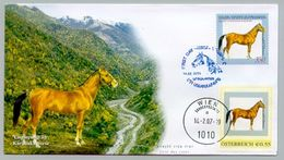 VERY RARE HORSE AUSTRIA OESTERREICH KARABAKH JOINT WITH ARMENIA DOUBLE FDC 2005 2007 10 COPIES ONLY - Armenia