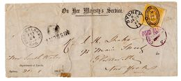 New South Wales 1888 Scott 67 To Cloversville New York, USA (department Of Lands) - 1850-1906 New South Wales