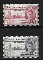 COTE D'OR 1946 ANNIVERSAIRE DE LA VICTOIRE  YVERT N°126/27  NEUF MNH** - Gold Coast (...-1957)