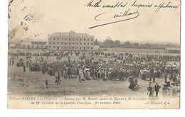 HYERES LES PALMIERS REMISE DU REGIMENT 22è COLONIAL DE LA CASERNE VASSOIGNE LE 1er OCTOBRE1903 CPA 2 SCANS - Régiments