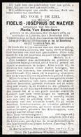 Lokeren,1918, Fidelis De Maeyer,Van Bastelaere, , Sint-Niklaas ,Sint-Nicolaas - Images Religieuses