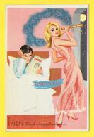 CPSM Illustration - CARRIERE Louis - Humour - Pin-Up Ah ! Si Vénus T 'occupait Autant ....... TIERCE - Carrière, Louis